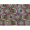 Tissu 100% coton SOWETO motifs africains 150 cm de large
