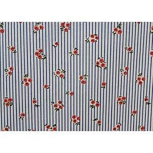 Tissu 100% coton imprimé MEGAN floral en 150 cm de large