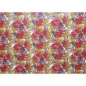 Tissu 100% coton imprimé SAO PAULO rouge 150 cm de large