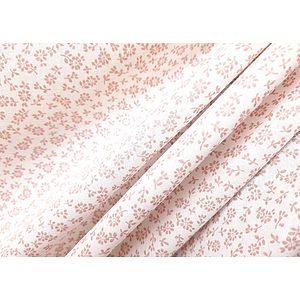 Tissu 100% coton LIZ petites fleurs fond blanc 150 cm de large
