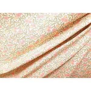 Tissu 100% coton JOANNE motif floral fond ivoire 150 cm de large