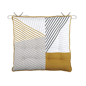 Galette de chaise carré 40x40cm à nouettes modèle CHICAGO