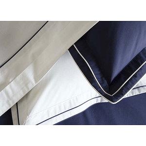 Taie d'oreiller 65x65 100% percale de coton CLAUDIA marine