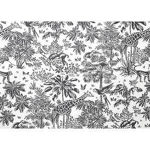 Tissu 100% coton GAZELLE graphite 150 cm de large