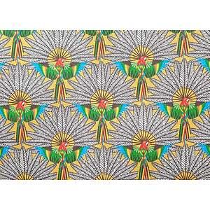 Tissu 100% coton TRINIDAD jaune 150 cm de large