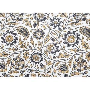 Tissu 100% coton SRILANKA noir 150 cm de large