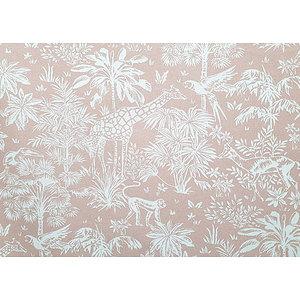Tissu 100% coton GAZELLE rose poudré 150 cm de large