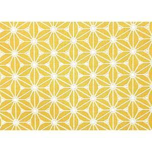 Tissu 100% coton FUJI jaune 150 cm de large