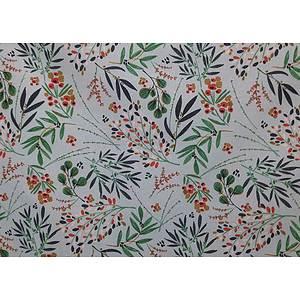 Tissu 100% coton GENEVRIER vert 150 cm de large