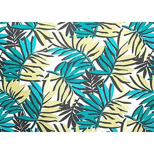 Tissu 100% coton imprimé SAO PAULO vert 150 cm de large