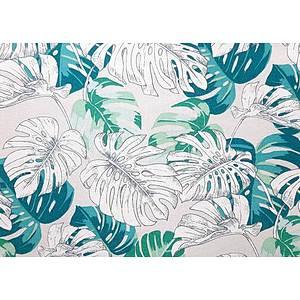 Tissu 100% coton HAWAI vert d'eau 150 cm de large