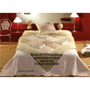 Couvre lit boutis futon 180x240cm patchwork boutis - Lit provencal ...