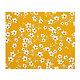 Tissu 100% coton fleurs d'amandier jaune safran 150 cm de large