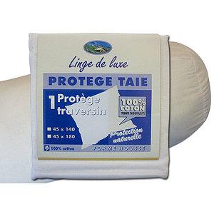 Protège traversin 100% coton flanelle à bouillir