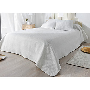 Couvre lit Boutis VERDON avec 2 taies d'oreiller