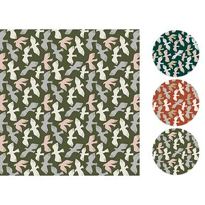 Tissu 100% coton DOVE 140 cm de large