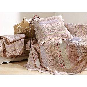 couvre lit boutis marylou rose 230x250 lit 2 places ebay. Black Bedroom Furniture Sets. Home Design Ideas