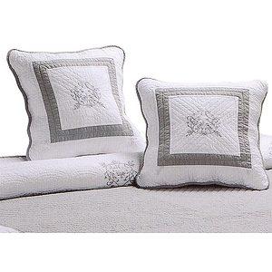 housse de coussin 40x40 gris blanc boutis brod peaceland housse de coussin pas cher. Black Bedroom Furniture Sets. Home Design Ideas