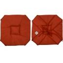 Galette de chaise 37x37 Imprimé faux marbre rouge A rabats