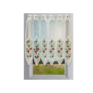 Petit rideau cantonnière macramé motif fraise
