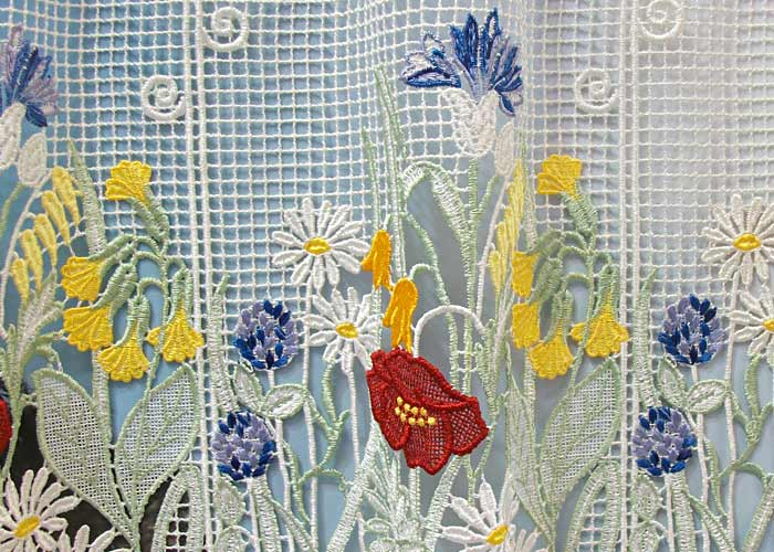 petit rideau cantonni re macram motif fleuri petit. Black Bedroom Furniture Sets. Home Design Ideas