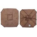 Galette de chaise marron 37x37 Imprimé faux marbre A rabats