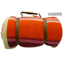 Plaid polaire PYRENEES orange et rose 100% polyester 130x150 cm