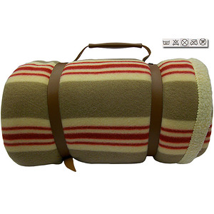 plaid polaire ardennes gris rouge 100 polyester 130x150 cm 1 face imitation mouton marque. Black Bedroom Furniture Sets. Home Design Ideas