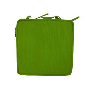 Coussin de chaise carré 40x40cm A nouettes Vert anis uni