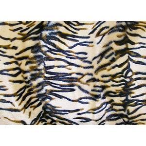 Tissu peau de bête Fausse fourrure Tigre
