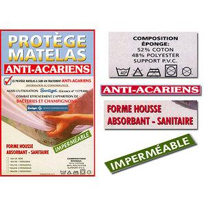 Protège matelas housse imperméable anti acariens