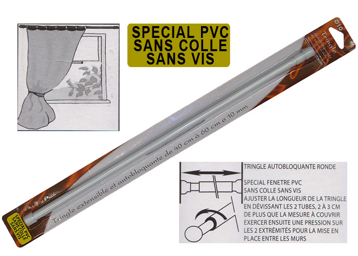 Tringle rideau extensible fenetre pvc tringle rideau for Tringle a rideaux pour fenetre pvc