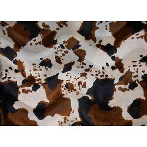 Tissu fausse fourrure imitation vache