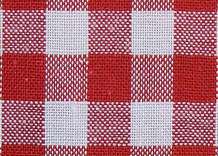 tissu vichy rouge et blanc à grands carreaux - tissu au mètre