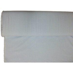 Tissu Vichy bleu et blanc petits carreaux