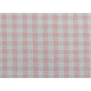 Tissu Vichy rose et blanc petits carreaux