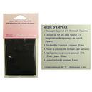 Pièce thermocollante noire 11,5 x 25 cms