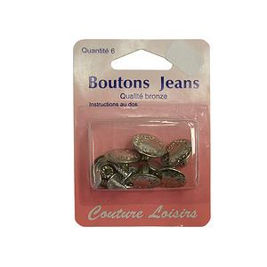 Boutons de jeans Lot de 6