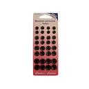 Assortiment de boutons pressions noirs à coudre 4 diamètres