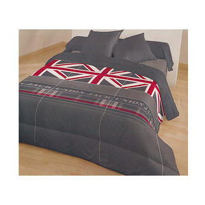 couette caline imprim drapeau anglais union jack pour lit 90 ou lit 140 cm ebay. Black Bedroom Furniture Sets. Home Design Ideas