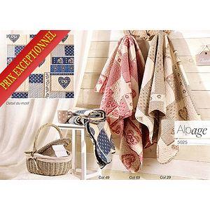 couvre lit boutis alpage beige pour lit une place plaid. Black Bedroom Furniture Sets. Home Design Ideas
