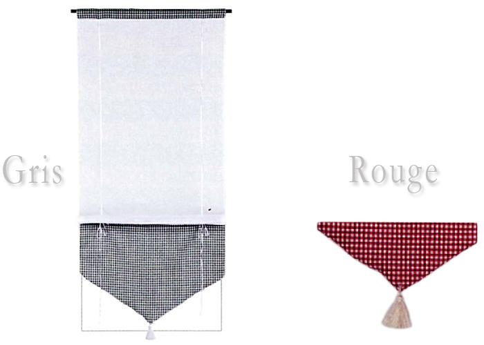 Store tissu relevable avec passe tringle store - Store bateau avec passe tringle ...