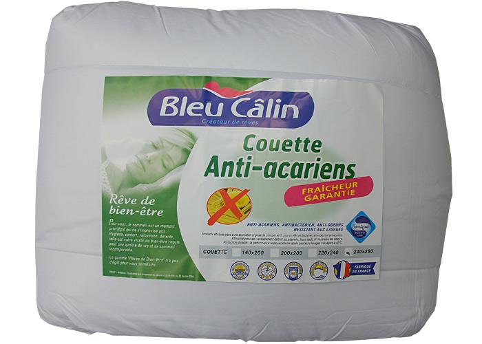 Couette blanche 400g/m2 Bleu Calin Traité