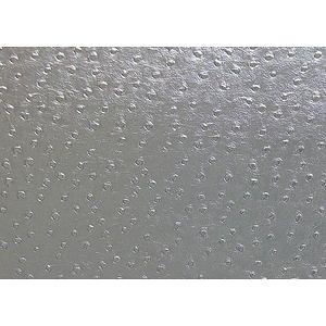 Tissu simili cuir d'autruche gris argent