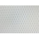 Tissu simili cuir écru embossé motif capitons