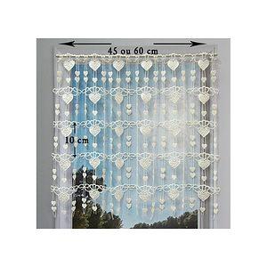 Petit rideau cantonnière macramé motif