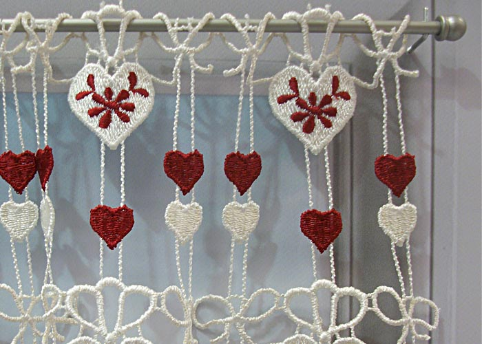 Beautiful rideau coeur rouge gallery amazing house - Macrame rideau cuisine ...