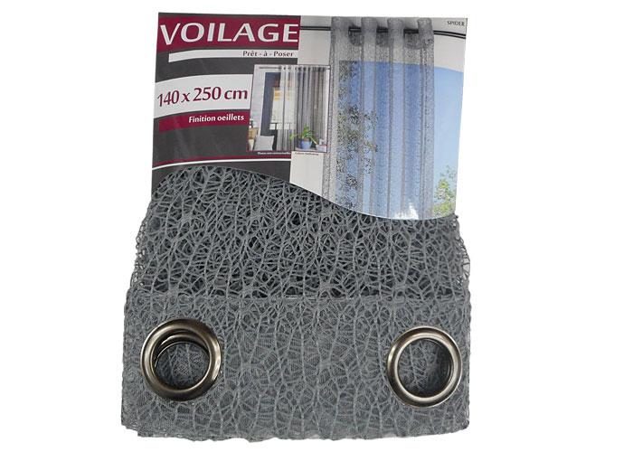 voilage oeillets spider 140x250 cm pr t poser voilage pas cher ebay. Black Bedroom Furniture Sets. Home Design Ideas