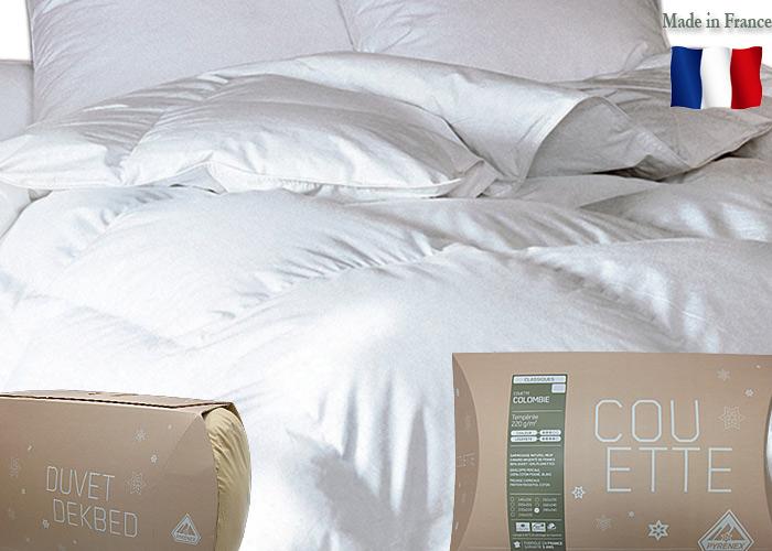 couette duvet plumes pyrenex mod le colombie 220 g m2. Black Bedroom Furniture Sets. Home Design Ideas