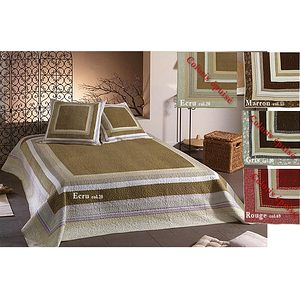 couvre lit boutis veloute 250x260 marron boutis lit de 160 ou 180 ebay. Black Bedroom Furniture Sets. Home Design Ideas